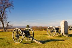 Gettysburg Cannon - 2 royalty free stock images