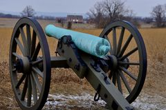 Gettysburg cannon. Cannons at Gettysburg National Park Royalty Free Stock Photo