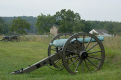 Gettysburg cannon at battlefield Stock Photography