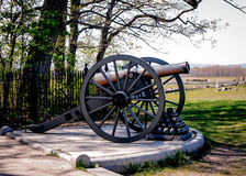 Gettysburg Cannon and Cannonballs Stock Images