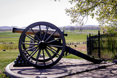 Gettysburg Cannon and Cannonballs Royalty Free Stock Image