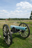 Gettysburg Cannon with Clouds Royalty Free Stock Images