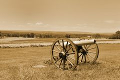 Gettysburg cannons Royalty Free Stock Photo