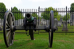 Gettysburg. Cemetery with cannon in the front royalty free stock images