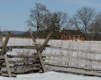 Gettysburg Fence Line Stock Photo