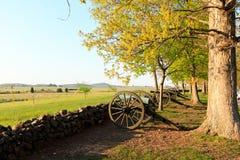 Gettysburg inbördeskrigkanoner Royaltyfria Bilder