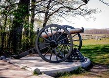 Gettysburg kanon och Cannonballs Arkivbilder