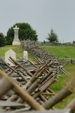 Gettysburg kanon och staket Arkivbilder