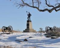 Gettysburg-Kanone und -moument Lizenzfreie Stockfotos