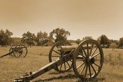 Gettysburg kanoner Arkivbild