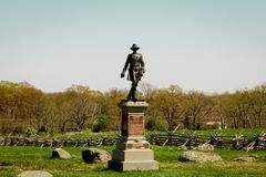 Gettysburg monument. Historic monument in Gettysburg Pennsylvania of a statue with a fence Stock Photography