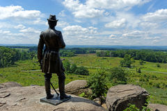 Gettysburg national military park. Battlefield Royalty Free Stock Photo