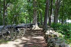 Gettysburg national military park. Cannons Royalty Free Stock Photo