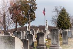 Gettysburg nationell kyrkogård royaltyfri foto