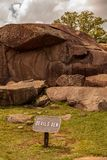 Devils Den at the Gettysburg National Military Park stock images