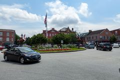 Gettysburg Downtown Square stock photography