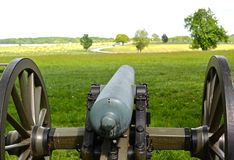Gettysburg parkerar den nationella militären - 112 Royaltyfri Fotografi