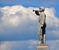 Gettysburg parkerar den nationella militären - 136 Arkivbild