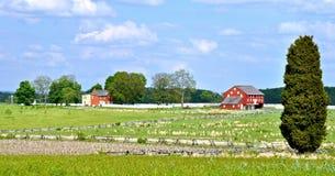 Gettysburg parkerar den nationella militären - 118 Arkivfoto