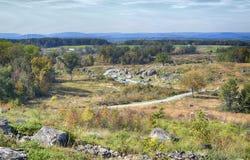 Gettysburg parkerar den nationella militären, Pennsylvania Royaltyfri Fotografi