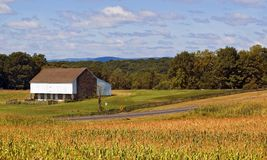 Gettysburg Pennsylvania Barn and Corn Fields Stock Photos