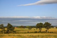 Gettysburg Pennsylvania Battlefield Fences and Barns Royalty Free Stock Photography