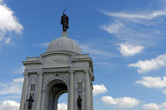 Gettysburg. Pennsylvania Monument in the summer Stock Images