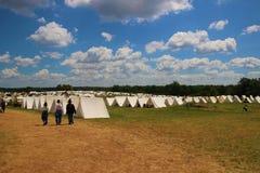 Gettysburg Reenactment Campsite zdjęcie royalty free