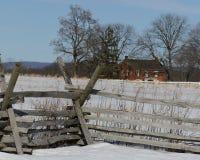 Gettysburg staket Line Arkivfoto