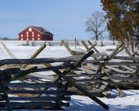 Gettysburg staket Line royaltyfria foton
