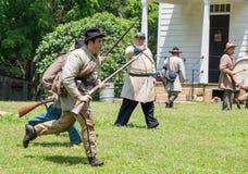 Gettysburg stridReenactment Arkivfoton