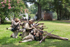 Gettysburg stridReenactment Arkivbilder