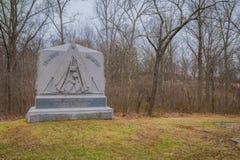 GETTYSBURG USA - APRIL, 18, 2018: Den utomhus- sikten av asfull skulptur lokaliserade en kyrkogård i den Gettysburg medborgaren Arkivfoto