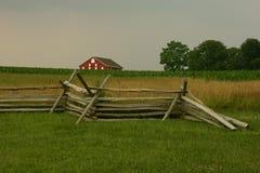 Gettysburg-Zaun Lizenzfreies Stockfoto