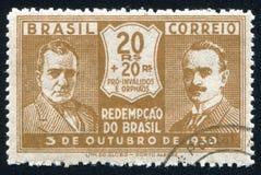 Getulio Vargas och Joao Pessoa arkivfoto