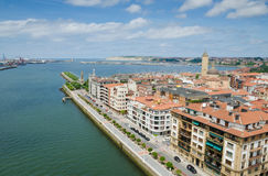 Getxo From Above Stock Photo