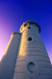 Getxo-Leuchtturm an der Dämmerung Lizenzfreies Stockbild