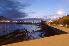 Getxo at night Stock Image