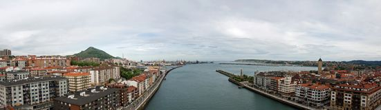 Getxo panorama Royalty Free Stock Photo