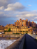Getxo promenade and beach Stock Image