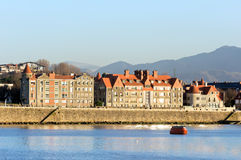 Getxo seafront with mansions Royalty Free Stock Photos