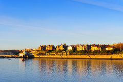 Getxo seafront with residential mansions Stock Image
