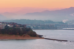 Getxo at sunrise Royalty Free Stock Photography