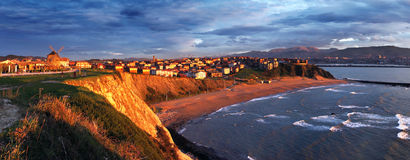 Getxo at sunset Stock Images