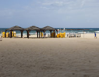 Geula plaża w Październiku tel aviv Israel Zdjęcia Royalty Free