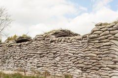 Geulen van de gebieden België van Vlaanderen van de doodsww1 zandzak stock afbeelding