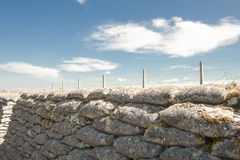 Geulen van doodswereldoorlog één zandzakken in België royalty-vrije stock foto
