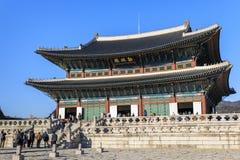 Geunjeongjeon Hall at gyeongbokgung Palace in Seoul, Korea royalty free stock photography