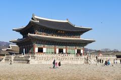 Geunjeongjeon, the main hole of Gyeongbokgung Stock Photography