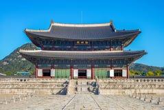 Geunjeongjeon, main throne hall of Gyeongbokgung royalty free stock photography